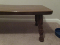 WOODEN COFFEE TABLE      --BR1 - 3