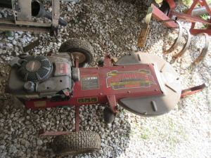 POSTMASTER TOW MOWER AND FENCE POST TRIMMER