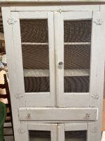 Farmhouse Dish Cabinet with Glass Knobs - 2