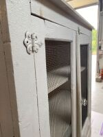 Farmhouse Dish Cabinet with Glass Knobs - 7