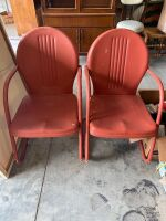 2 Vintage Metal Lawnchairs