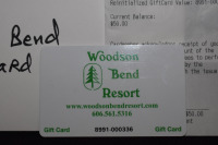 $50 WOODSON BEND GOLF COURSE GIFT CERTIFICATE - 2