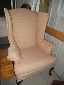 THOMASVILLE UPHOLSTERY CO WING BACK CHAIR