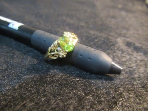 PERIDOT AND DIAMOND LADIES RING