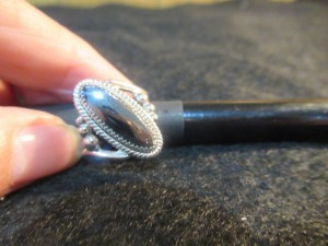 LADIES OVAL HEMATITE RING