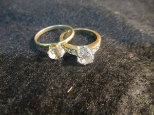 2 LADIES CZ RINGS