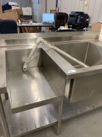 STAINLESS STEEL PREP TABLE / SINK - 2