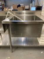 STAINLESS STEEL PREP TABLE / SINK - 3
