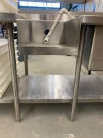 STAINLESS STEEL PREP TABLE / SINK - 6