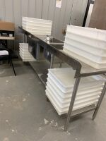 STAINLESS STEEL PREP TABLE / SINK - 7