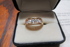 14K - GOLD - DIAMOND - WEDDING BAND - 2500.00 -