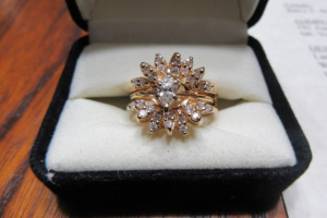 14K GOLD - MARQUISE -RING - 2000.00 - APPRAISAL