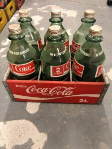 COCA-COLA GLASS 2 LITER BOTTLES