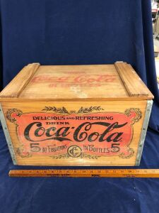 WOODEN COCA-COLA BOX