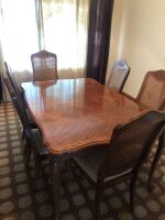 DINING ROOM TABLE AND CHAIRS - 2