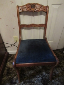 ANTIQUE WOODEN SIDE CHAIR - BR2