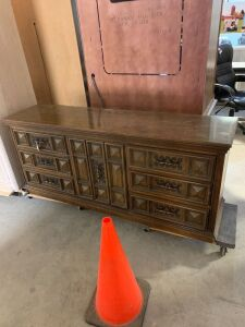 MID CENTURY MODERN DRESSER WITH MATCHING MIRRORS