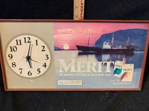 MERIT CIGARETTE CLOCK