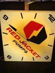 RED JACKET PUMPS LIGHT UP CLOCK