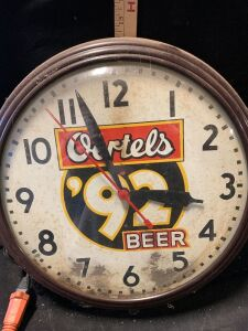 OERTELS BEER CLOCK