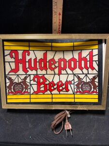 HUDEPOHL BEER SIGN