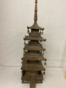 VINTAGE BRASS CHINESE TEMPLE