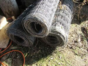 3 ROLLS OF WOVEN WIRE FENCE