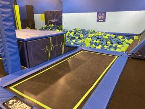 Foam Pit with Jumps and Trapeze Swing
