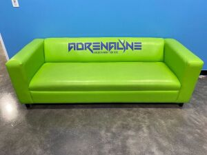 Lime/Neon Green Faux Leather Couch