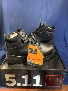 "SHIELD 6"" ZIP BOOT SIZE 8W"