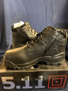 "SHIELD 6"" ZIP BOOT SIZE 8.5 WIDE"