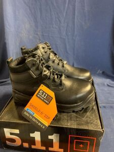 "SHIELD 6"" ZIP BOOT SIZE 7""R"