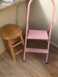 STEP STOOL AND BAR STOOL (2)