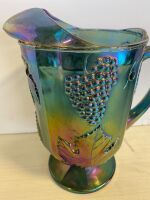 CARNIVAL GLASS PITCHER - 2