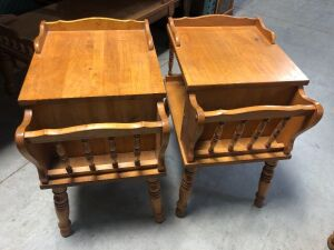 VINTAGE EARLY AMERICANA END TABLES