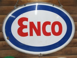 ENCO DOUBLE SIDED SIGN