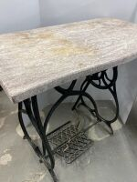 MARBLE/GRANITE REMINGTON SEWING TABLE - 6