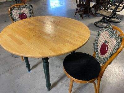 3 PIECE TABLE AND CHAIRS (3)