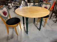 3 PIECE TABLE AND CHAIRS (3) - 3