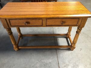 SOLID WOOD HALL OR ENTRY WAY TABLE WITH DRAWERS