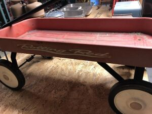 """ROLLING RED"" WAGON WITH HANDLE"