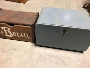 TWO VINTAGE BREAD BOXES (2)
