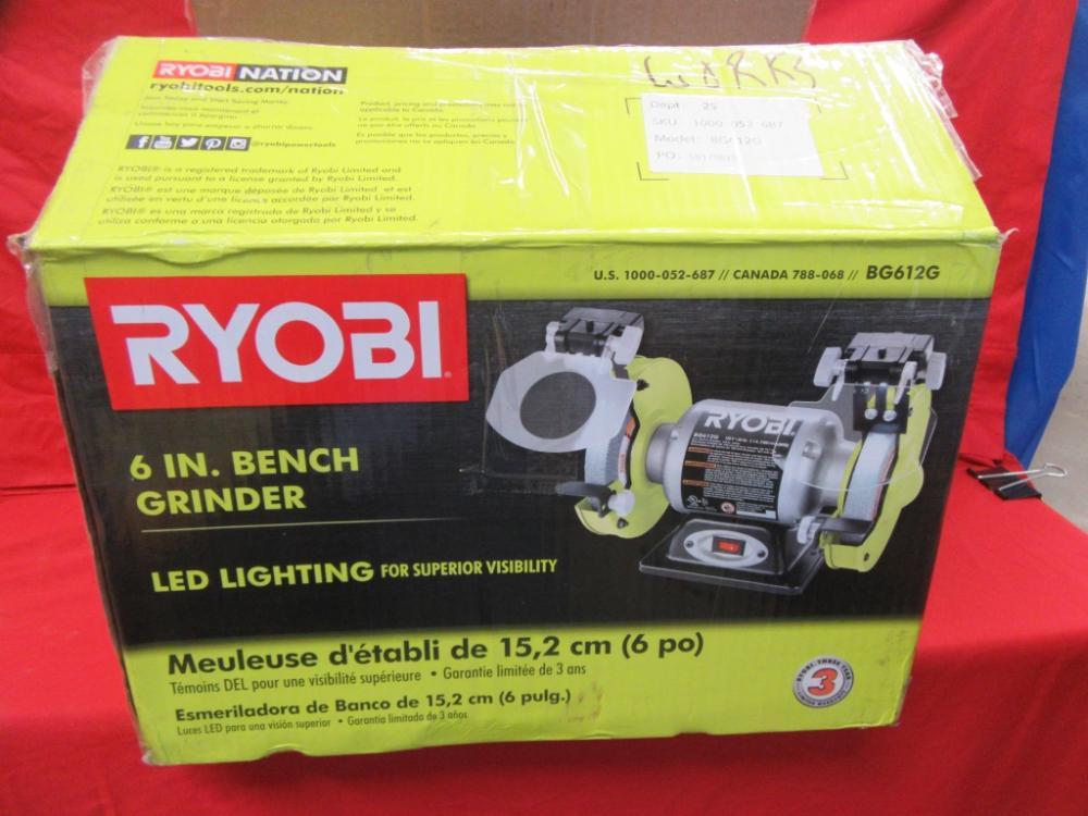 Prime Ryobi 6 Inch Bench Grinder Andrewgaddart Wooden Chair Designs For Living Room Andrewgaddartcom