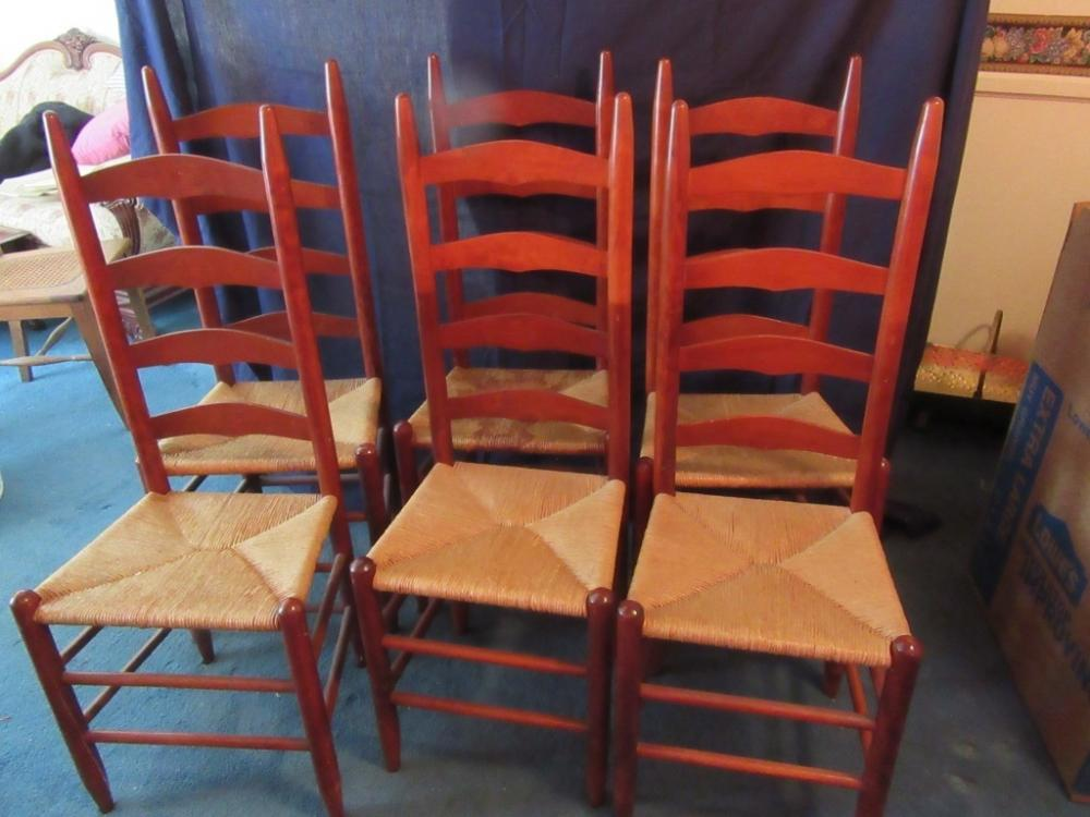 Lot 2 Of 426 6 Ladder Back Cane Bottom Chairs