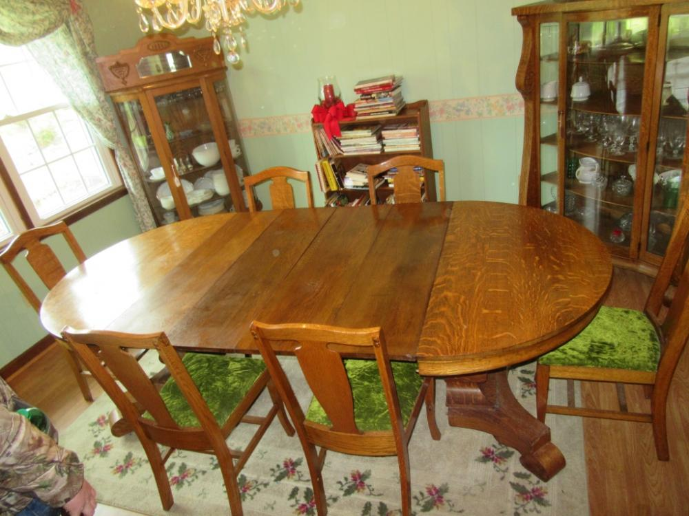 Fantastic Tiger Oak Dining Table And 6 Chairs Dr Short Links Chair Design For Home Short Linksinfo