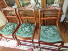 3 MAHOGANY SIDE CHAIRS-DR