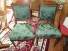2 WALNUT UNMATCHED SIDE CHAIRS-DR