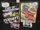 2 NASCAR BOOKS AND 2 DIE CAST CARS