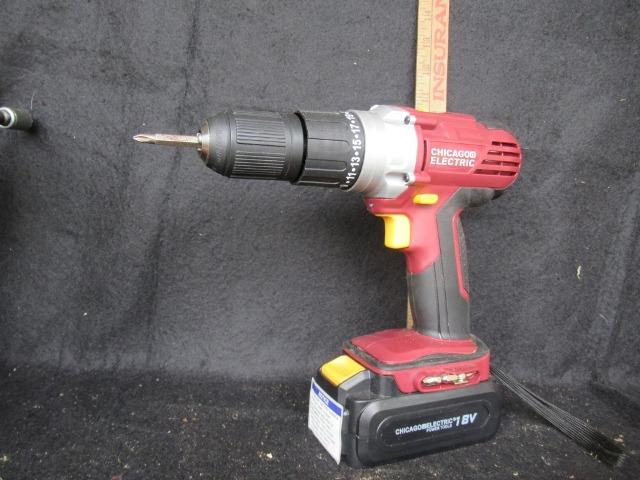 Lot 89chicago Battery Powered Hand Drill