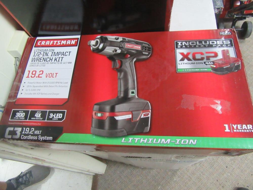 Lot 64 Of 634 Craftsman Impact Wrench Kit